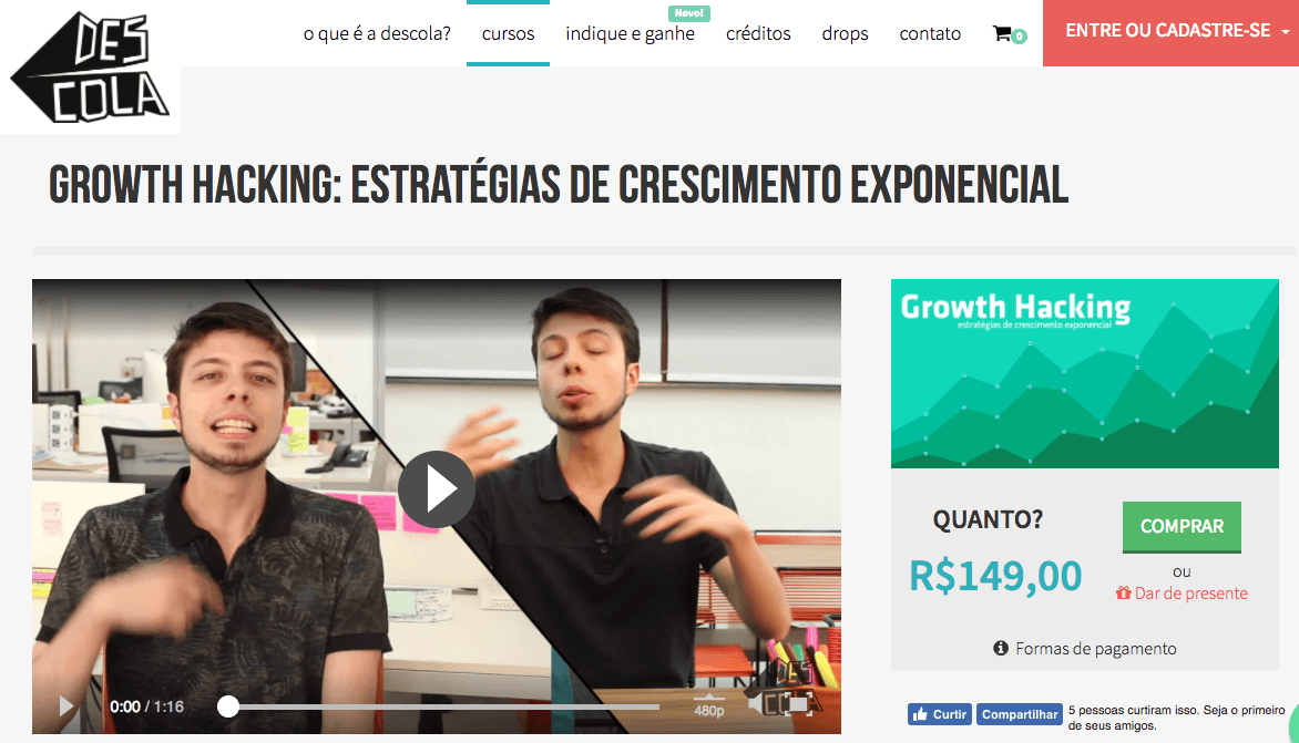 Growth Hacking Descola Cursos