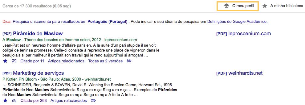 Google Acadêmico: citações