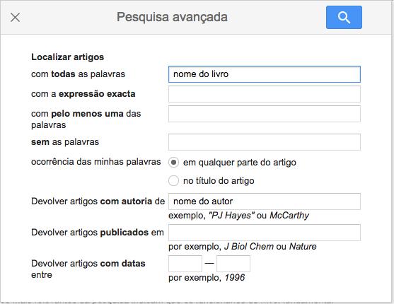 Google Acadêmico livros