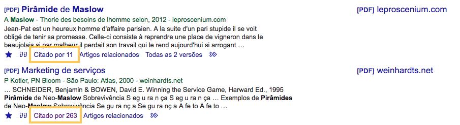 Google Acadêmico e métricas