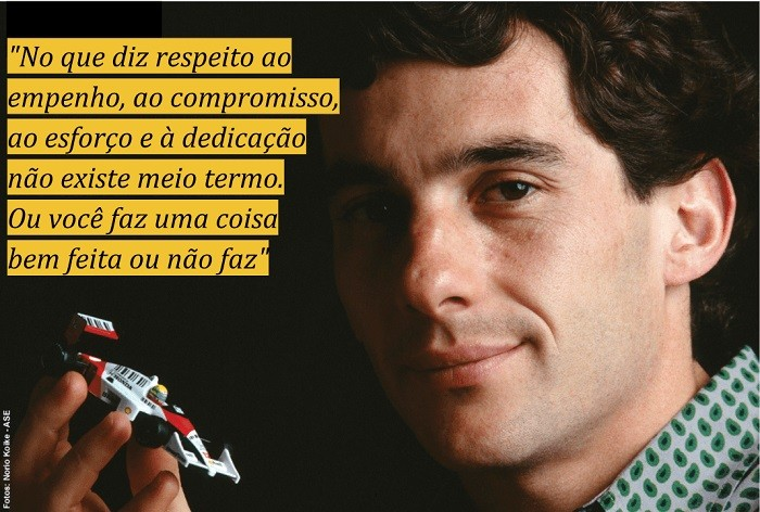 Frases motivacionais de esportistas: Ayrton Senna